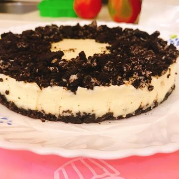 Rainie Tseng跟著做了OREO生乳酪蛋糕(6吋、免烤箱)