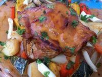 家庭料理-田園香蔬雞腿排