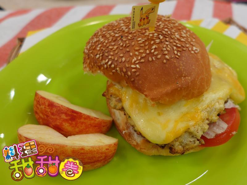 料理甜甜圈【創意豆腐】美式豆腐堡