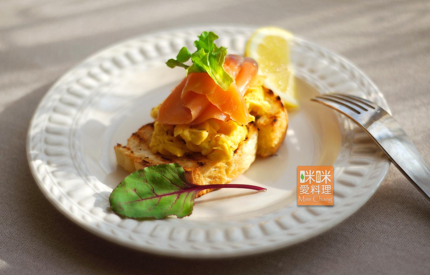 Mimi♥煙燻鮭魚+美式炒蛋