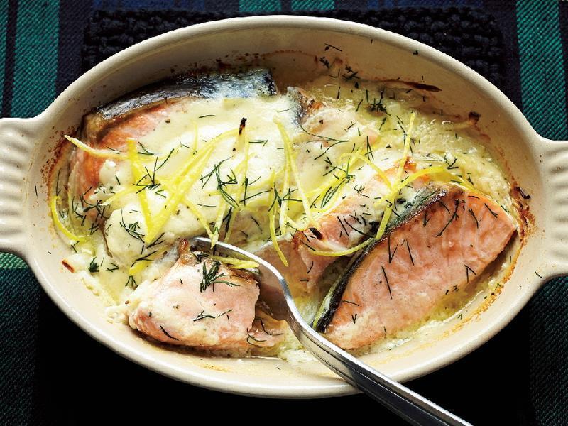 東販小食堂:時蘿風味烤奶油鮭魚洋蔥