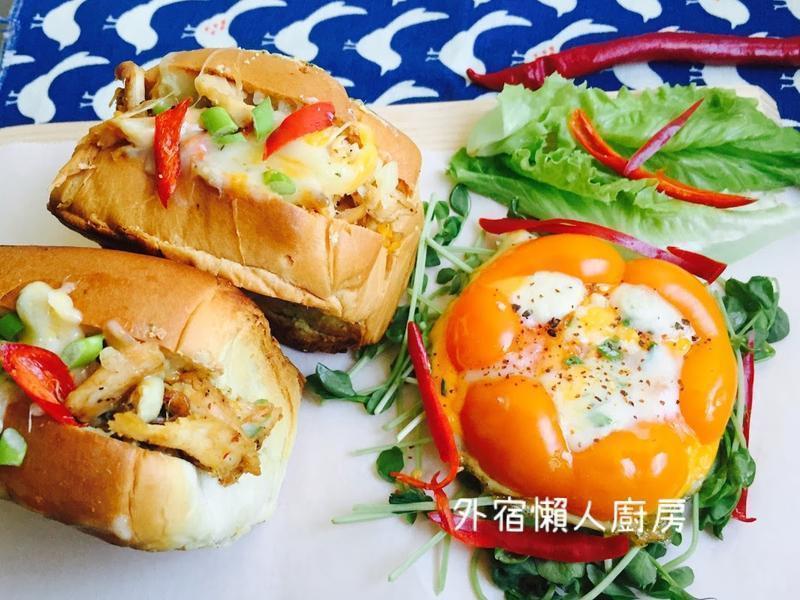 泰式烤雞爆漿起司三明治
