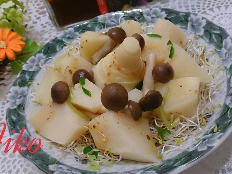 涼拌野菇竹筍