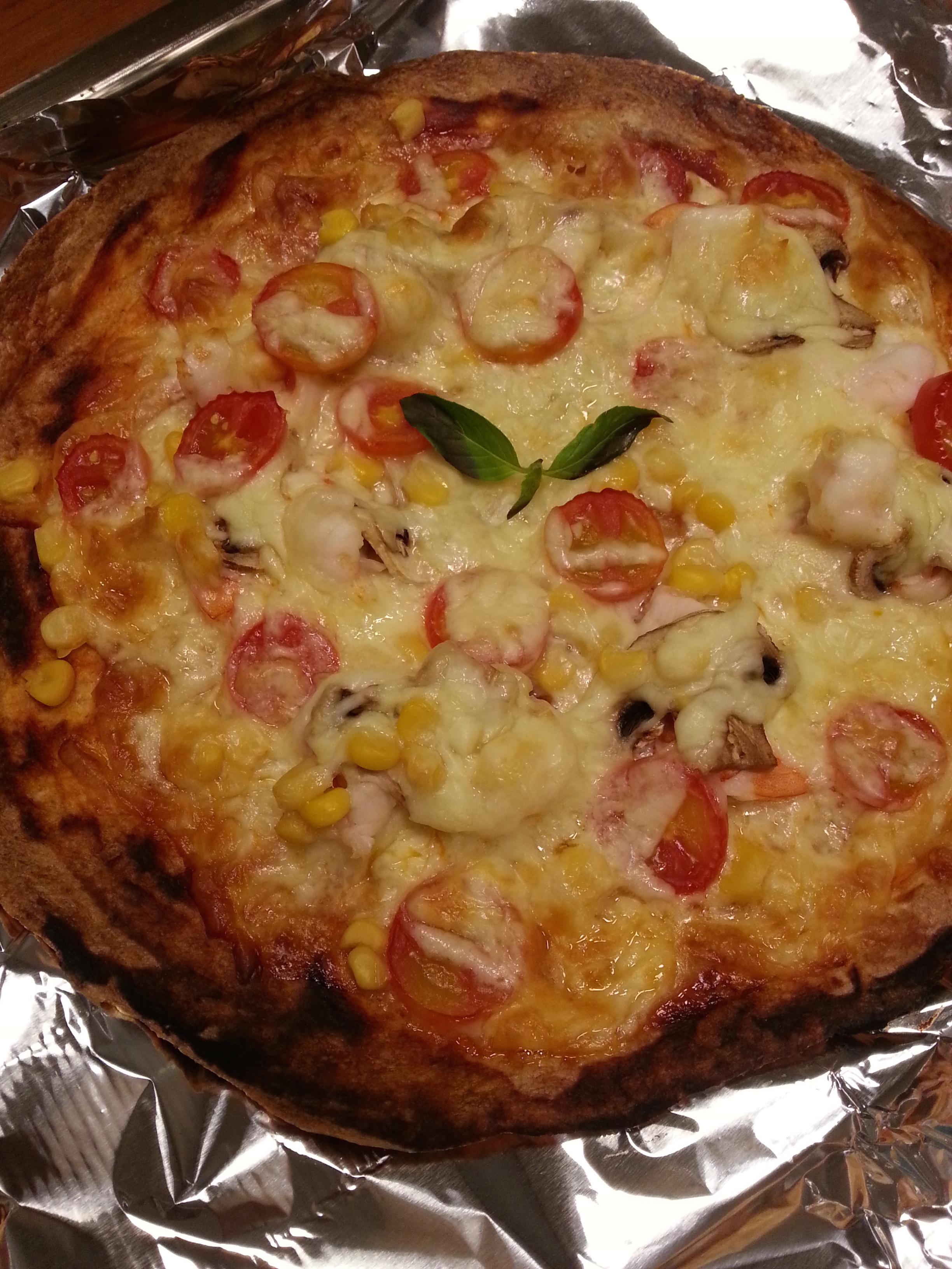 用蛋餅皮做披薩