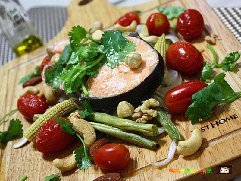 香烤鮭魚佐茶油白葡萄醋-自然好油x茶籽堂