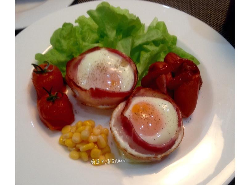 培根蛋-無油煙早餐