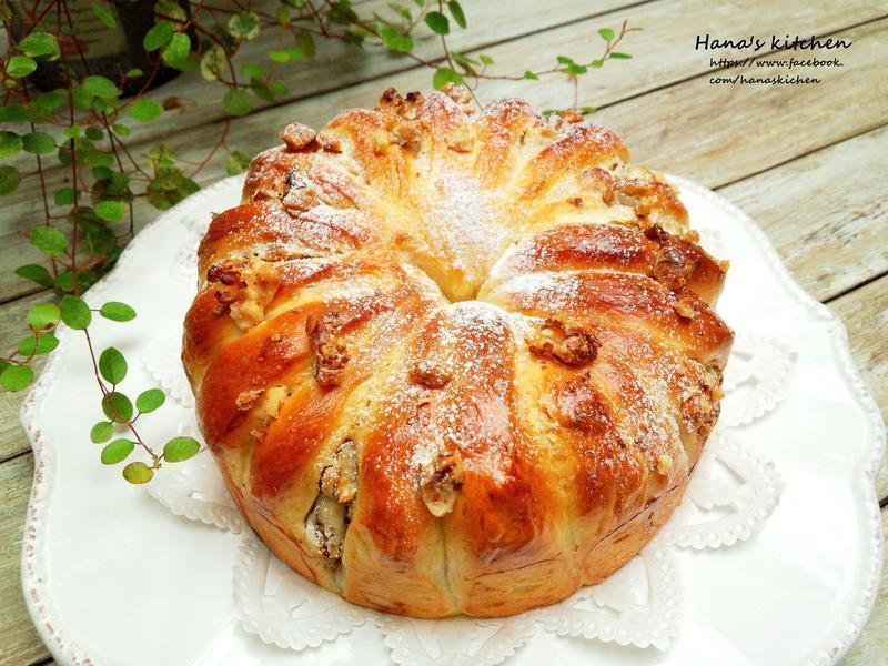 奶油乳酪核桃麵包