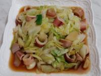 小卷炒高麗菜