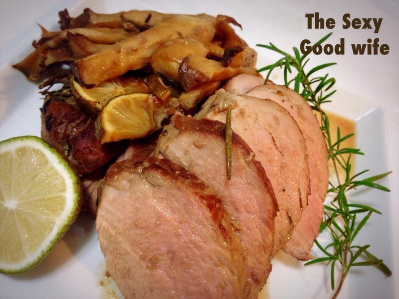 《香草烤豬排》醃煎烤切4步驟的粉嫩豬排