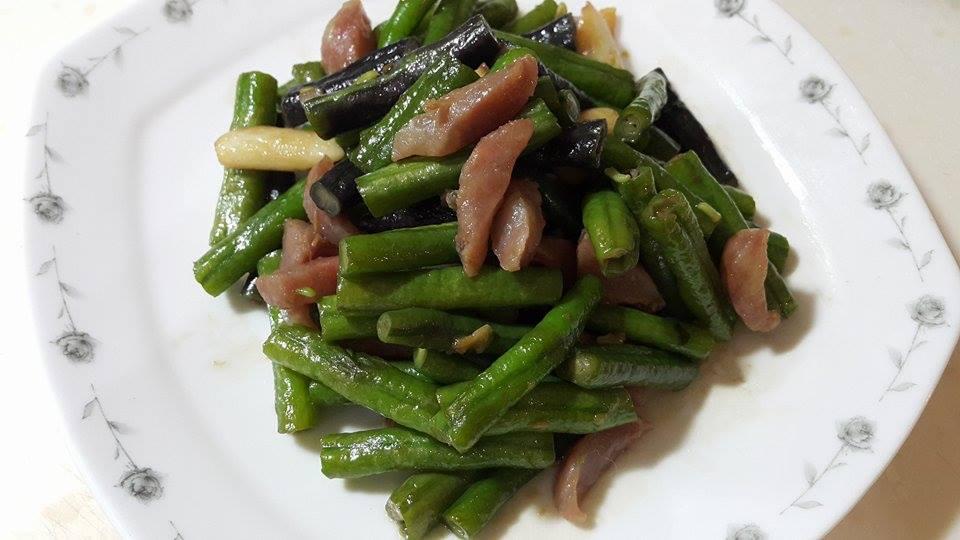 長豆炒香腸