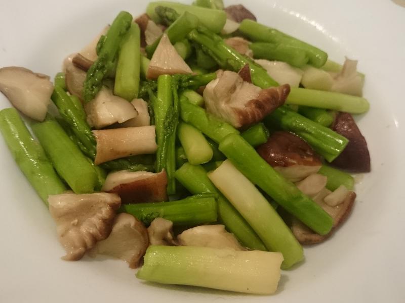 清炒蘆筍香菇