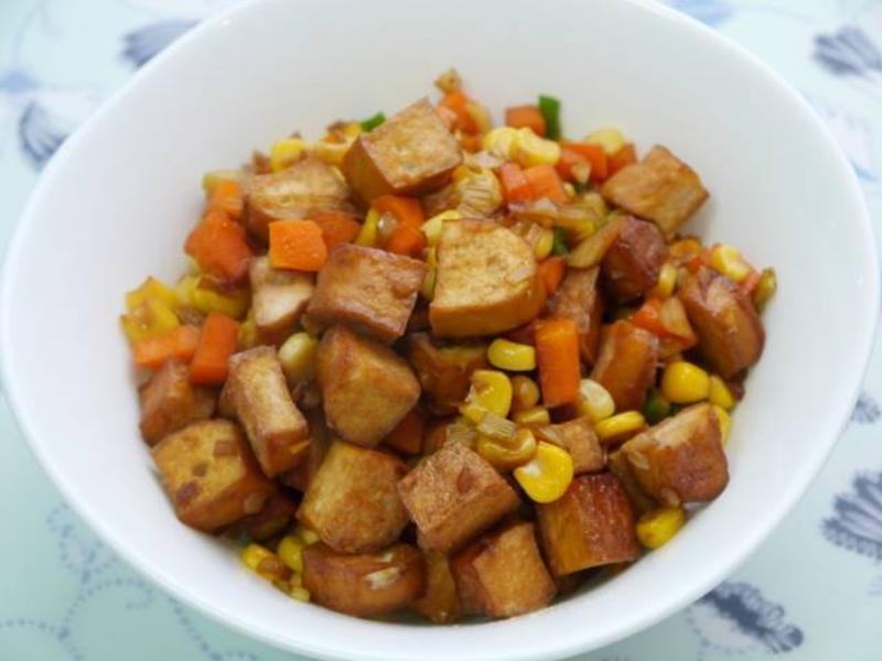 玉米炒豆干