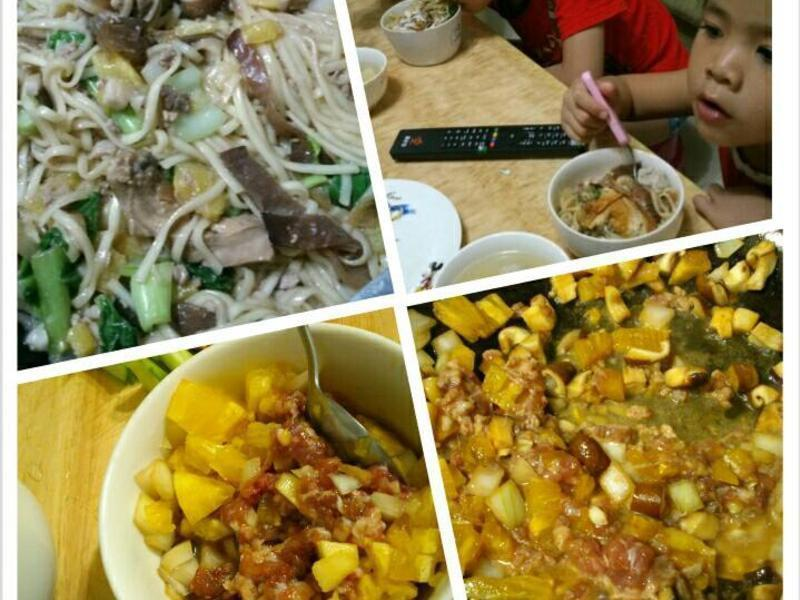 新鮮鳳梨肉燥炒麵