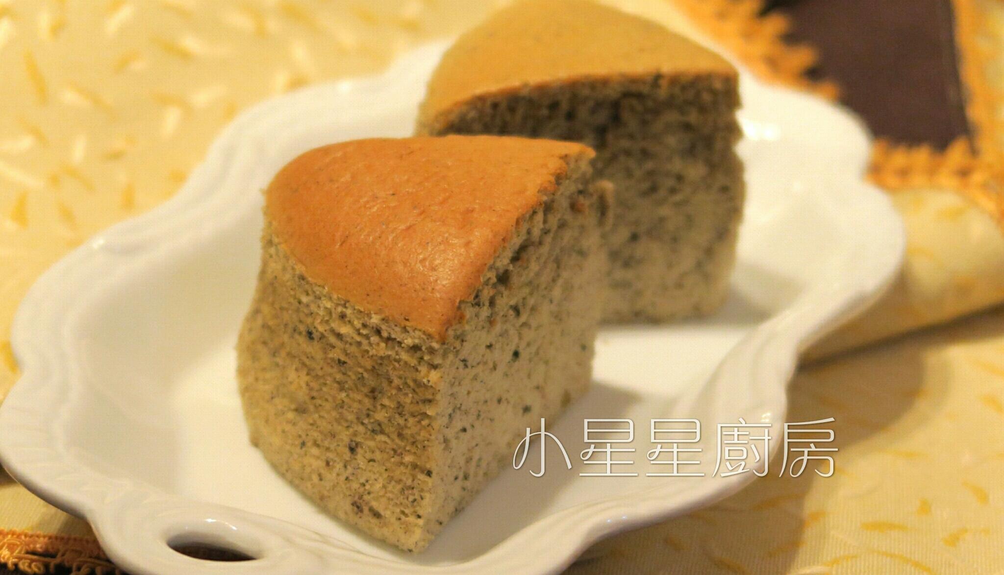 黑芝麻煉乳棉花蛋糕