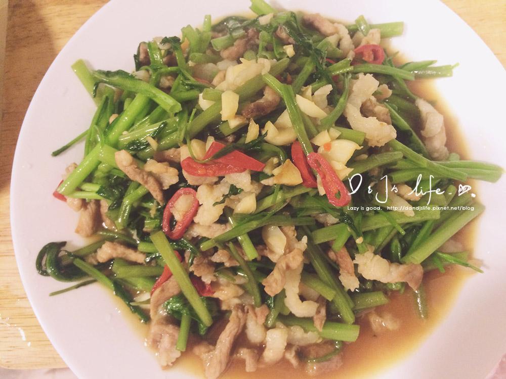 家常菜-空心菜炒肉絲