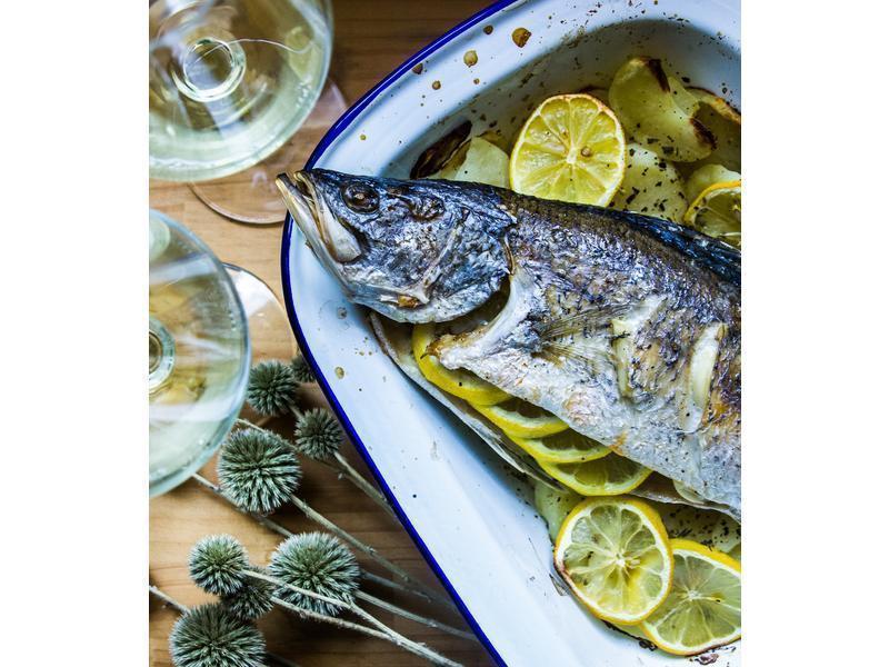 地中海風味香料烤魚