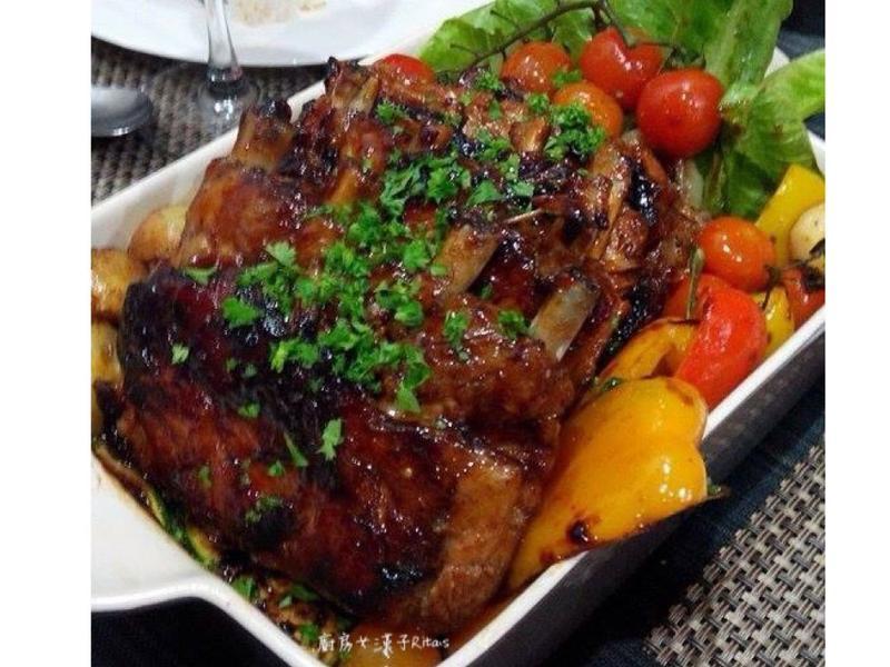 嫩烤豬肋排(免烤箱)