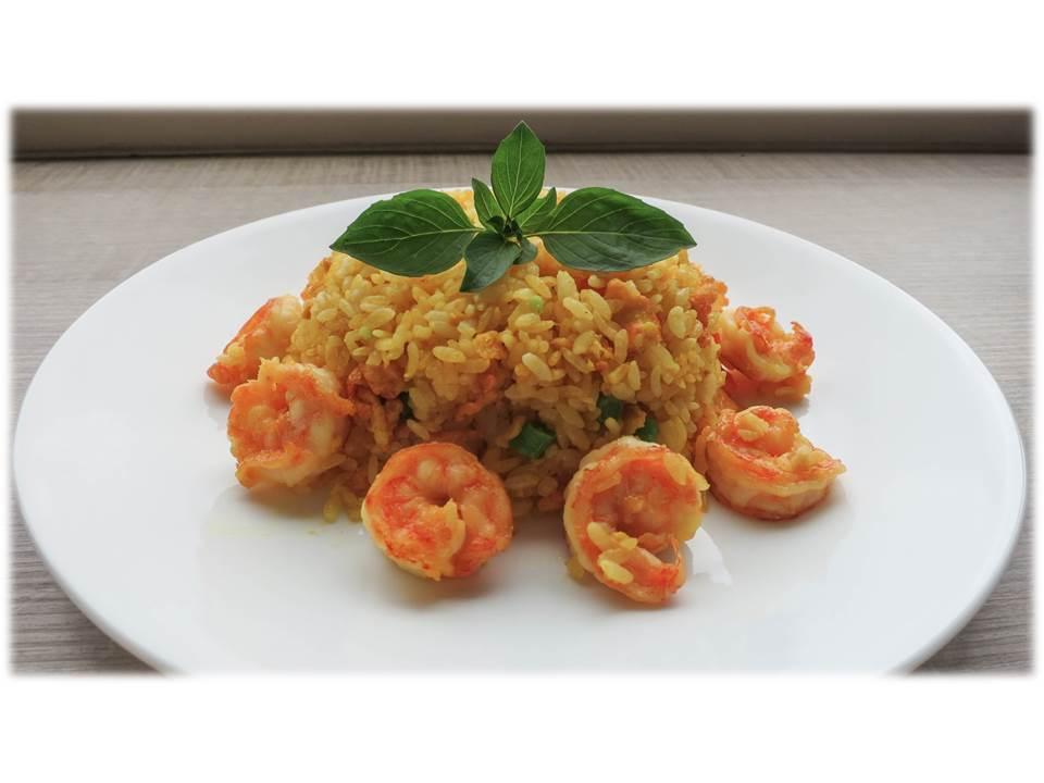 薑黃蝦仁炒飯