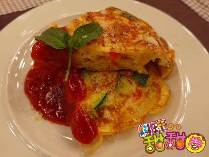料理甜甜圈【麵麵俱到】義式煎蛋捲麵