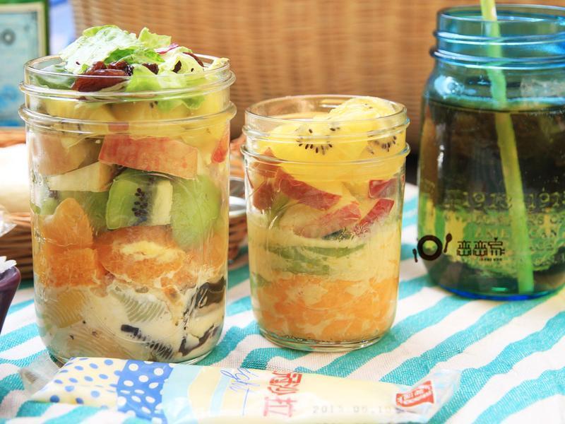 野餐趣:水果沙拉貝殼麵沙拉罐by戀戀家