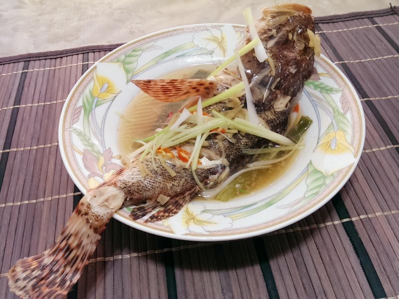 清蒸石狗公魚