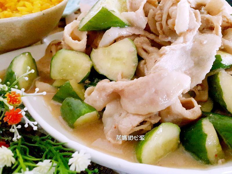 腐乳培根黃瓜肉片