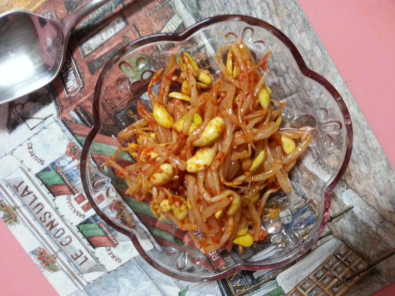 『家常料理』夏日開胃菜-韓式涼拌黃豆芽