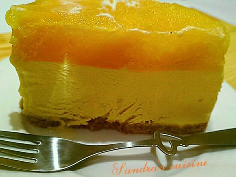 芒果起司蛋糕(免烤箱)