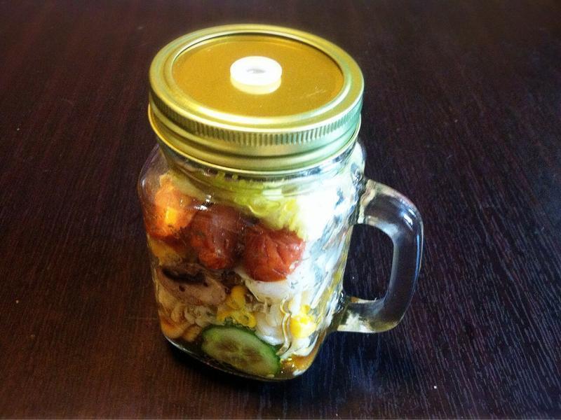 玻璃罐沙拉-香橙和風通心粉
