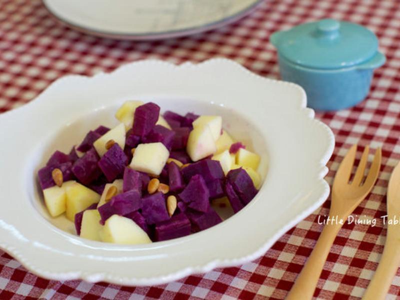 蘋果松子地瓜沙拉@梅花肉小餐桌