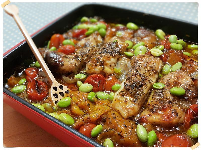 一鍋到底香料烤蔬菜&嫩雞