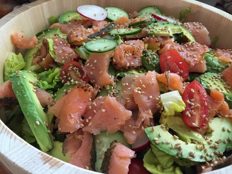 和風燻鮭魚生菜沙拉
