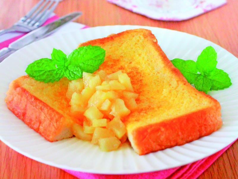 東販小食堂:簡單美味 蘋果肉法國奶油吐司