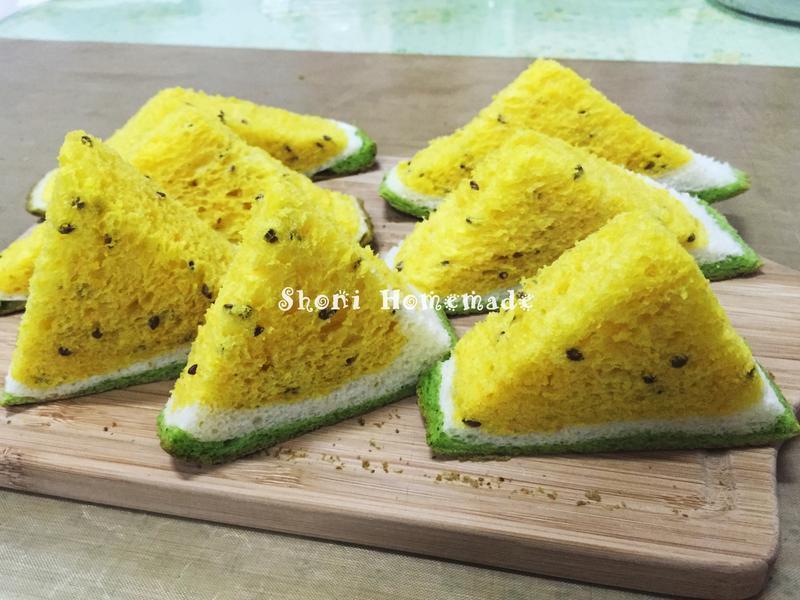 西瓜土司。小玉西瓜  [麵包機105T]