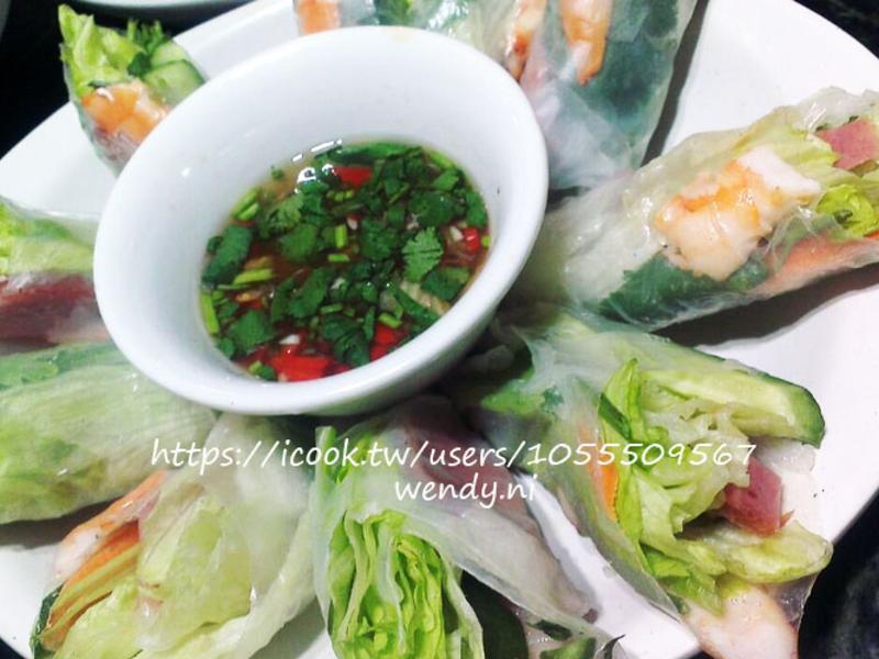 夏天減肥輕食譜-越南春捲