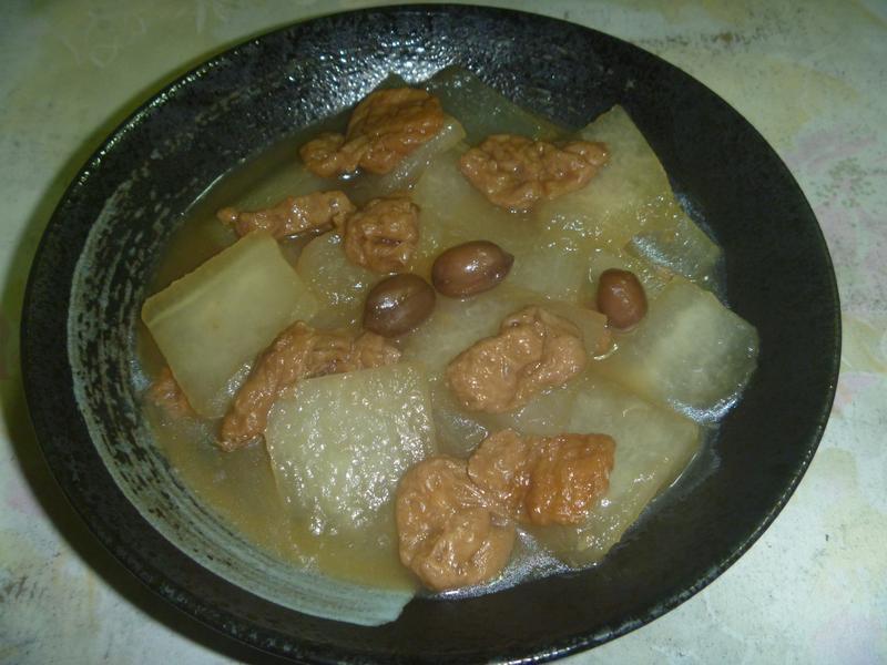 土豆麵筋燜冬瓜
