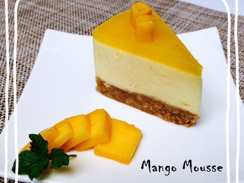 三層【芒果慕斯蛋糕】免烤箱 簡單做