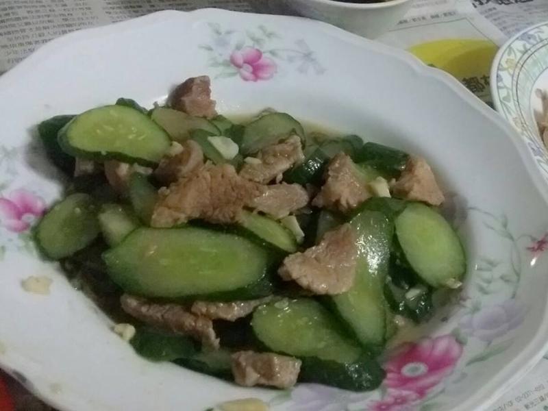 小黃瓜炒肉