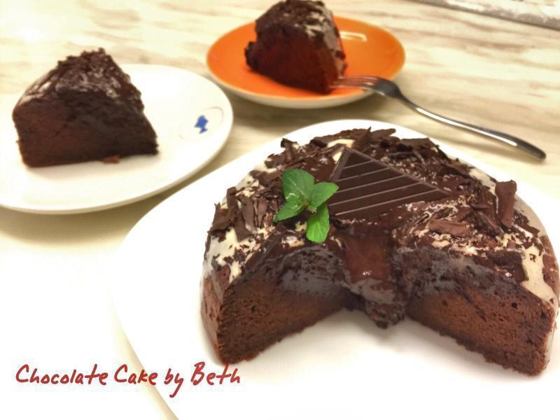 香濃的巧克力蛋糕