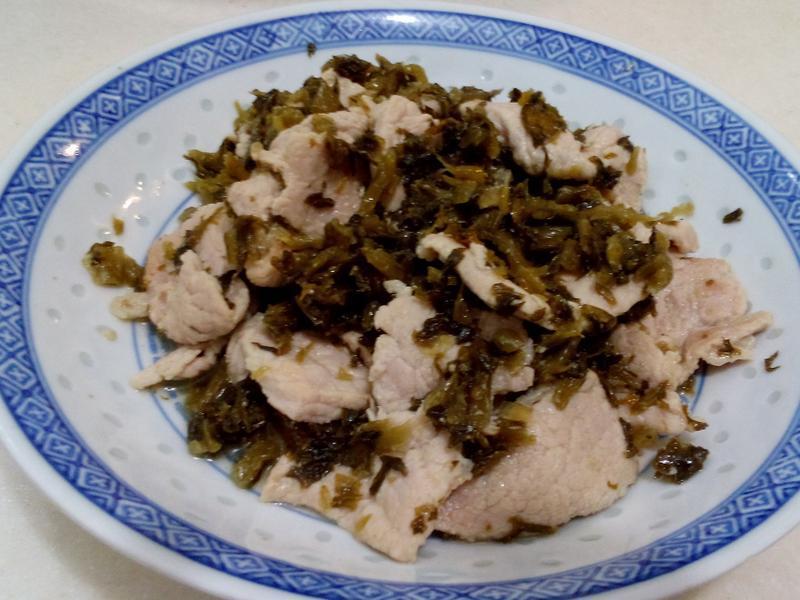 即食雪菜 炒肉片