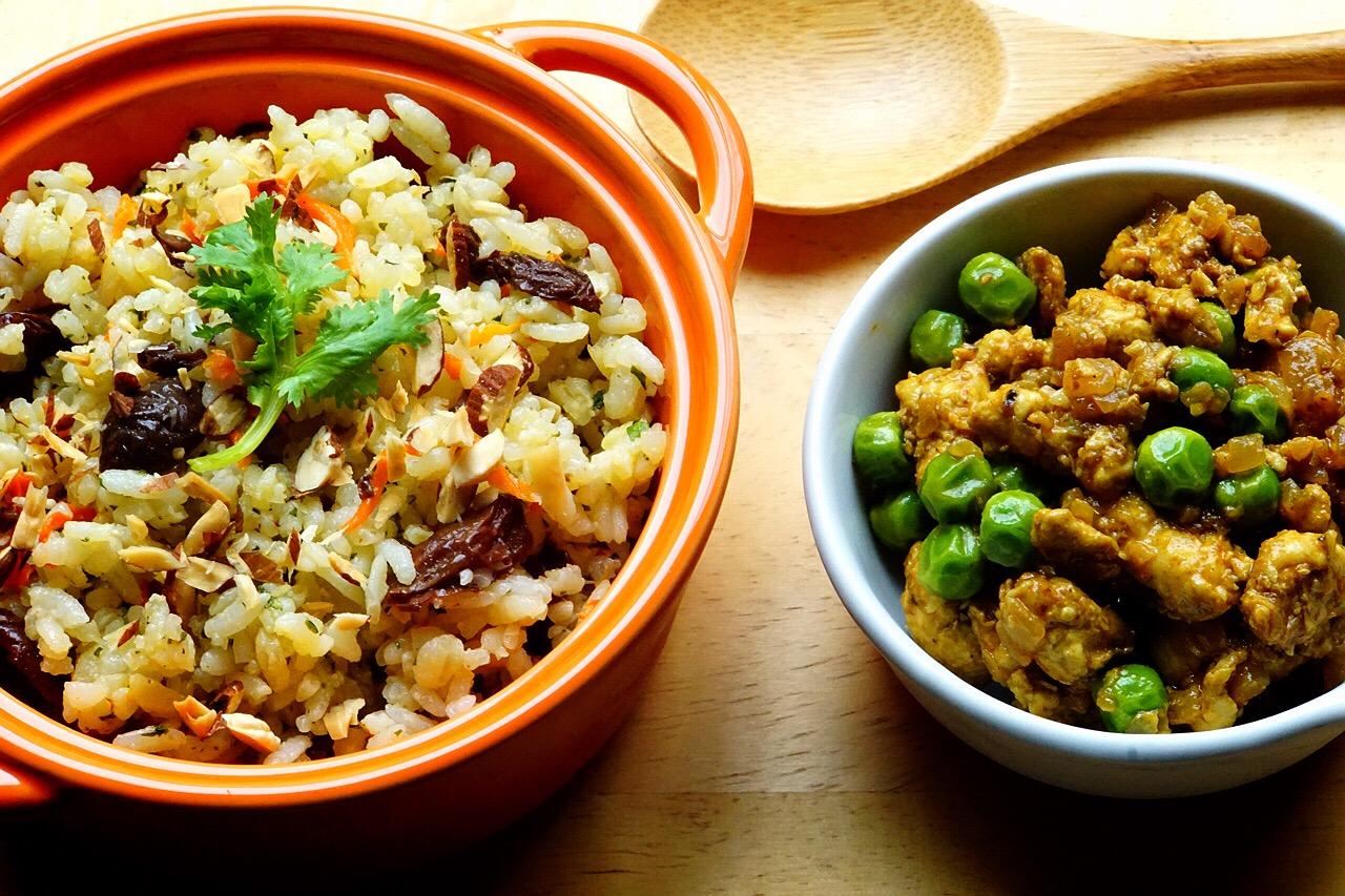 印度風味咖哩雞佐香料飯(上)