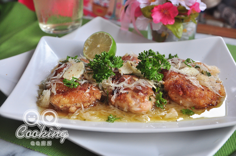 柚香白酒香煎雞胸肉