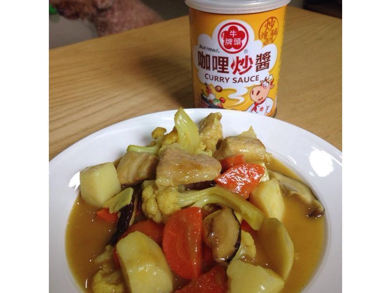 咖哩蔬菜燒『牛頭牌咖哩新食代』