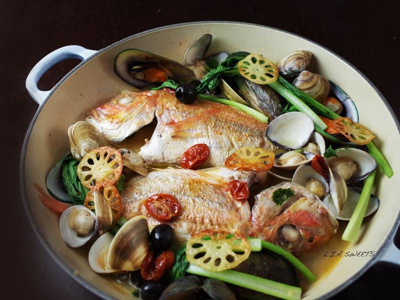 簡易豪華版法式蒸煮魚