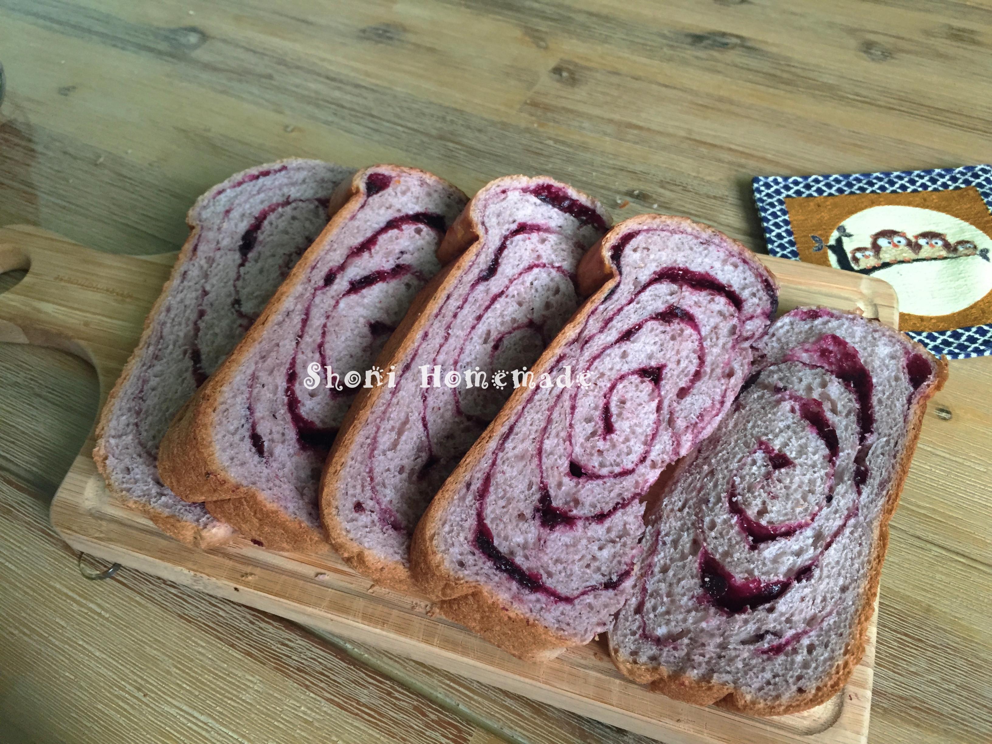 藍莓土司 [麵包機105T]