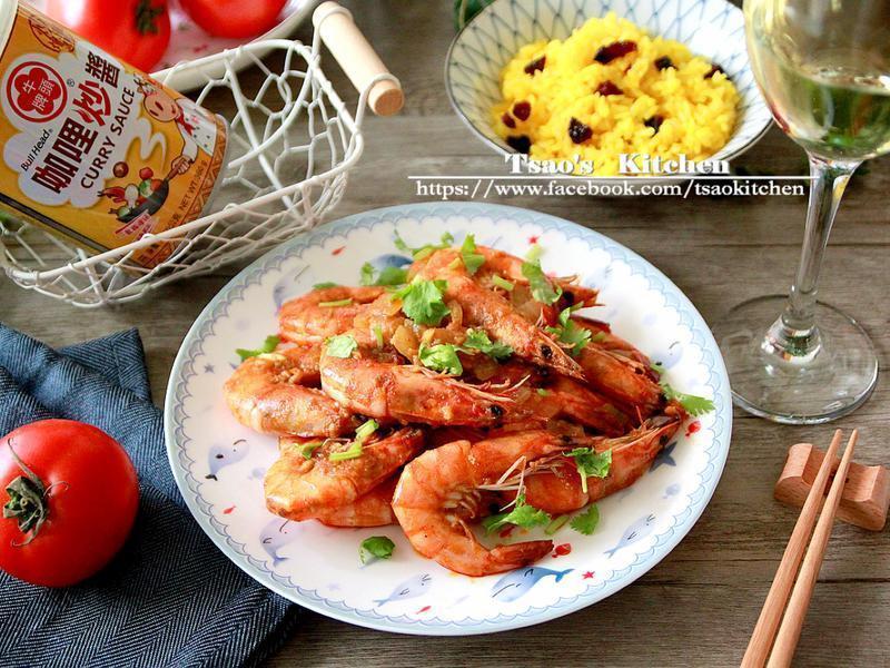 咖哩茄汁蝦『牛頭牌咖哩新食代』