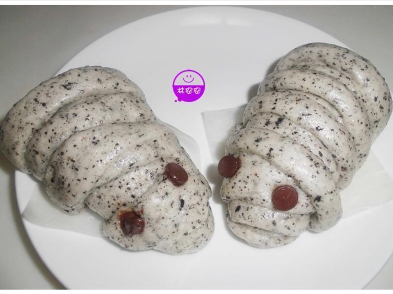 養生黑芝麻粉饅頭(蟲蟲造型)