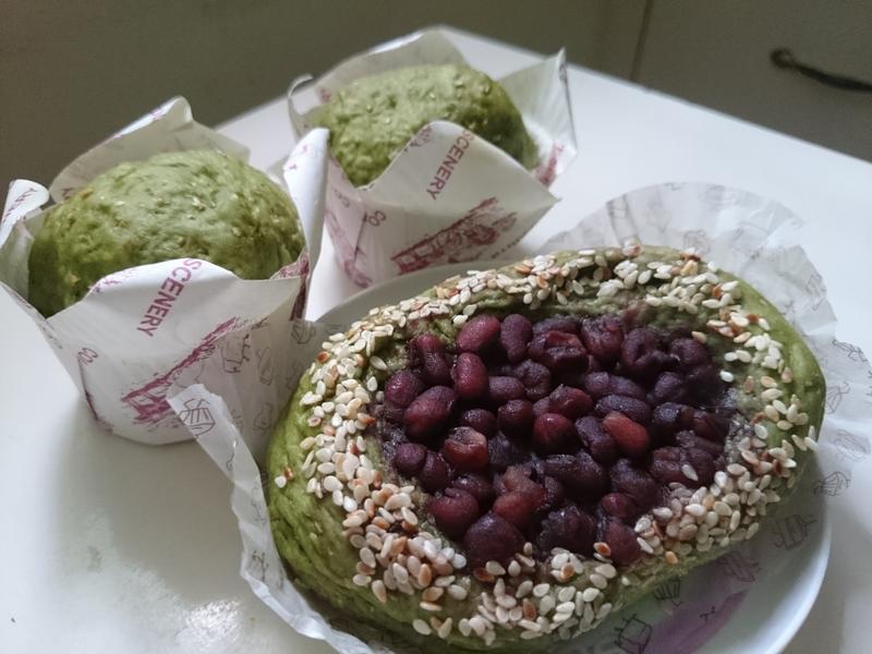 綠茶紅豆包