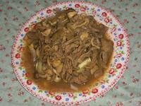 和風麻醬三菇炒牛
