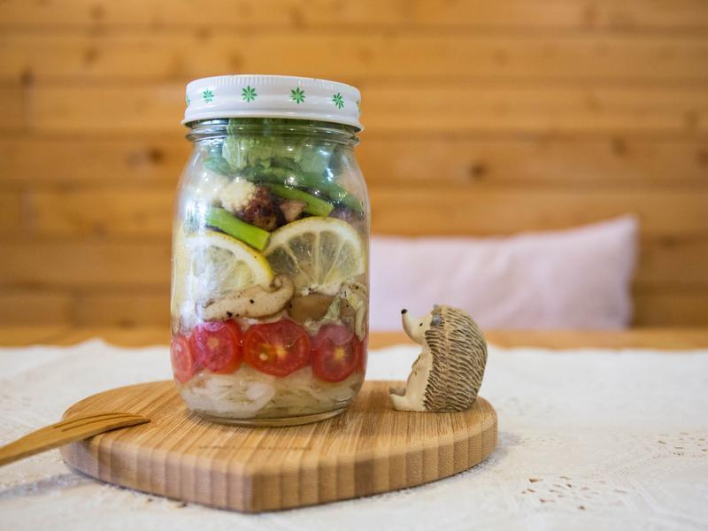 【OL也輕鬆做の罐沙拉】♥野菇雞肉沙拉♥